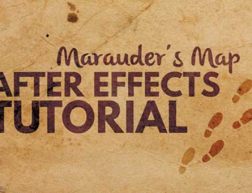 Marauder's Map Footprint Tutorial in After Effects