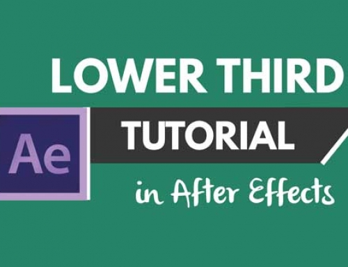 After Effects Tutorial: Make a Minimal and Modern Lower Thirds Title