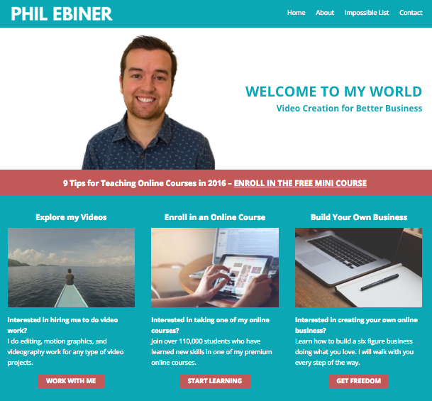 philebiner.com redesign