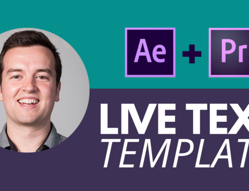 How to Use Live Text Templates in After Effects & Premeire Pro