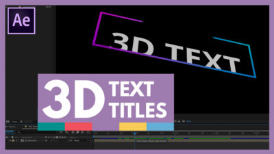 3d text titles in after effects