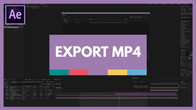 how to export mp4 from after effects