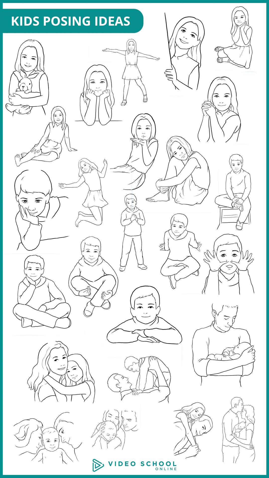 25 poses for kids