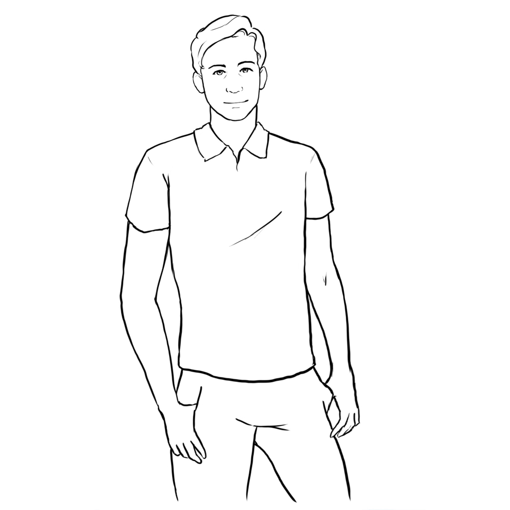 posing idea for men